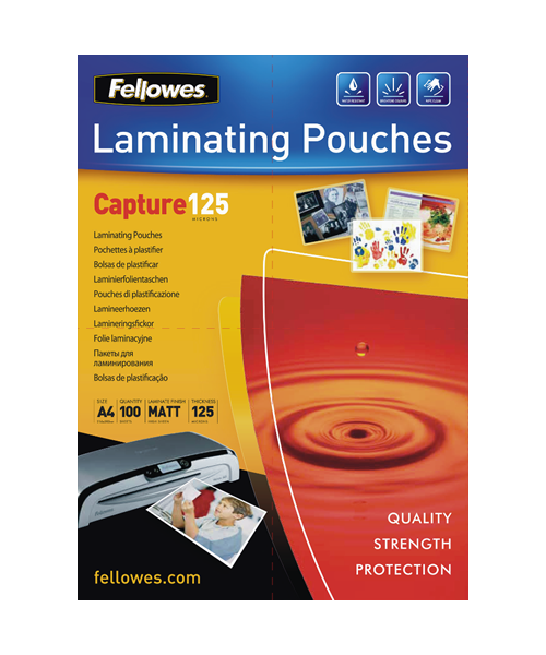 Fellowes A4 Capture 125 Micron Laminating Pouches