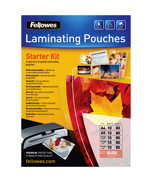 Fellowes Pouch Lamination Kit 80 Micron