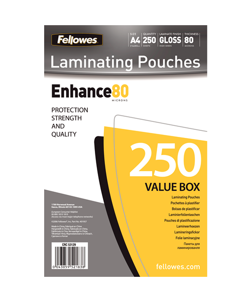 Fellowes Laminating Value Packs - Gloss